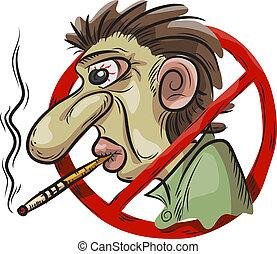 fumer, symbole, non
