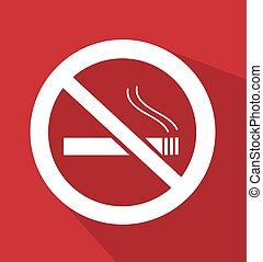 fumer, vecteur, non, illustration, signe