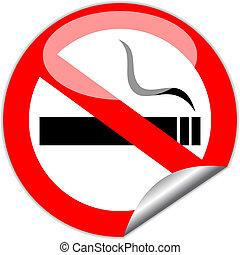 fumer, vecteur, non, signe