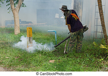 Fumigate mosquito-killing to prevent disease
