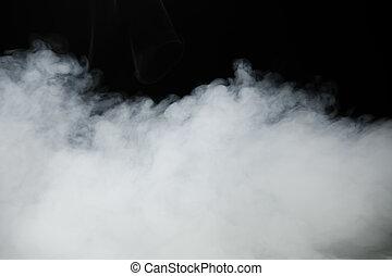fumo, fondo, e, denso, nebbia