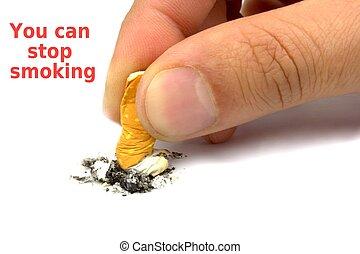 fumo, lei, fermata, lattina