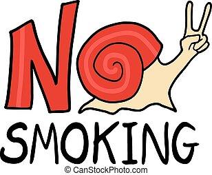 fumo, messaggio, no