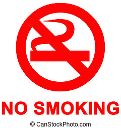 fumo, no, segno