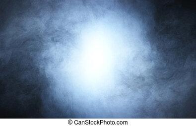 fumo, sopra, sfondo nero