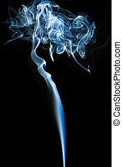 fumo, struttura, sfondo bianco