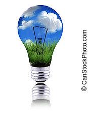 função, saudável, energia, planeta, verde, usando