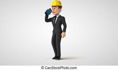Fun 3D cartoon architect character