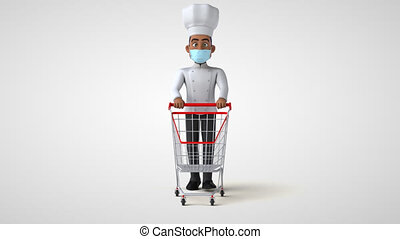 Fun 3D cartoon chef character
