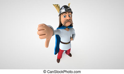 Fun 3D cartoon gaul character