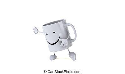 Fun 3D cartoon mug dancing