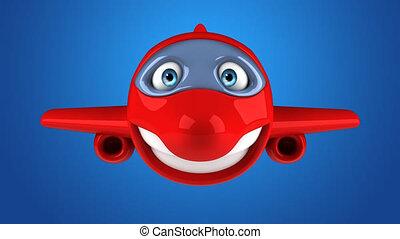 Fun 3D cartoon plane character