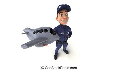 Fun 3D cartoon Police Officer