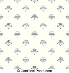 Fun air balloon pattern vector seamless repeat for any web...