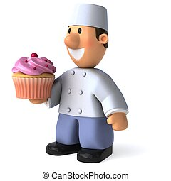 Fun baker - 3D Illustration