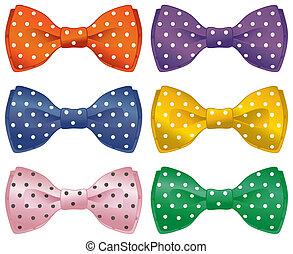 Fun bow ties - A set of polka dot bow ties.
