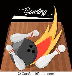 fun bowling sport play game