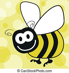 Fun bumble bee vector.