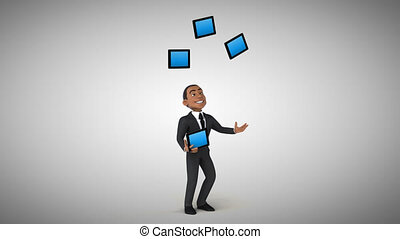 Fun businessman - 3D Animation