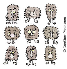 Fun cartoon monster - Creative design of fun cartoon monster