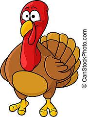 Fun cartoon turkey