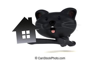 Fun cat running - 3D Animation