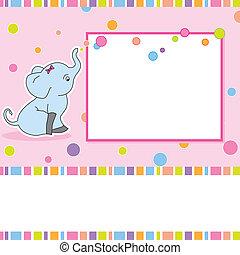 Fun children's card with an elephan