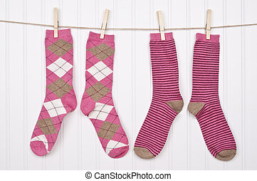Fun Clothing on a Clothesline
