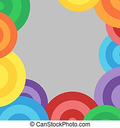 Fun colorful circle background