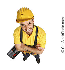 fun contruction worker portrait