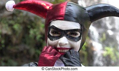 Fun Cosplay Jester Girl