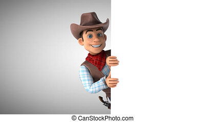 Fun Cowboy - 3D Animation with alpha channel