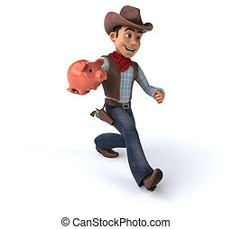 Fun Cowboy - 3D Illustration