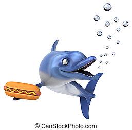 Fun dolphin - 3D Illustration