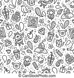 Fun doodle pattern