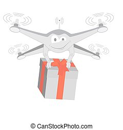 fun drone with gif. Isolated - fun drone with gif. Series...