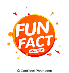 Fun fact typography bubble. Did you know knowledge design ...