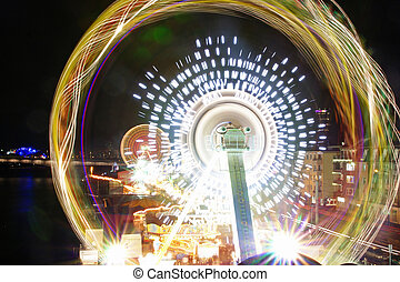 Fun fair - Lights at parish fair, lightpainting.