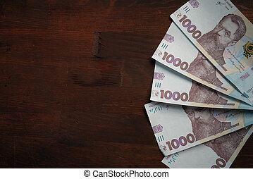 Fun from new Ukrainian banknotes face value 1000 hryvnia. ...