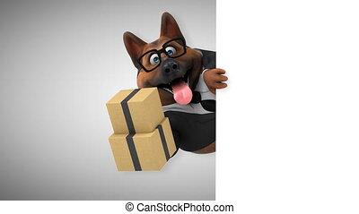 Fun german shepherd dog - 3D Animation