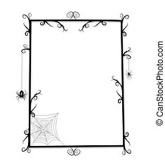 Fun Goth or Halloween Frame - Whimsical Goth or Halloween...
