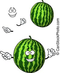 Fun happy cartoon watermelon character