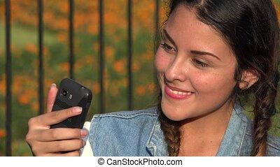 Fun Happy Silly Teen Girl Selfy