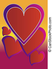 Fun Hearts - Graphic illustration of group of hearts...