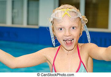 fun in the swimming pool