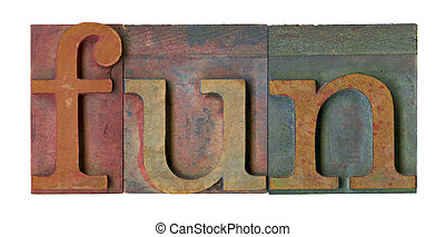 fun in vintage printing blocks
