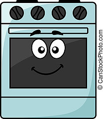 Fun kitchen appliance - a happy oven - Cartoon kitchen...
