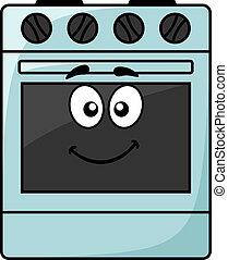 Fun kitchen appliance - a happy oven - Cartoon kitchen...