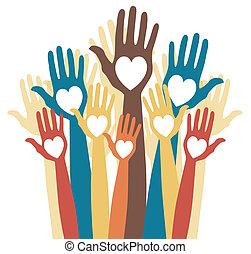 Fun loving crowd of people design. - Fun loving crowd of ...