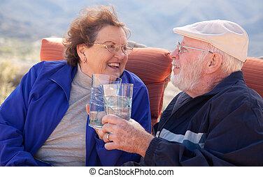 Fun Loving Senior Adult Couple